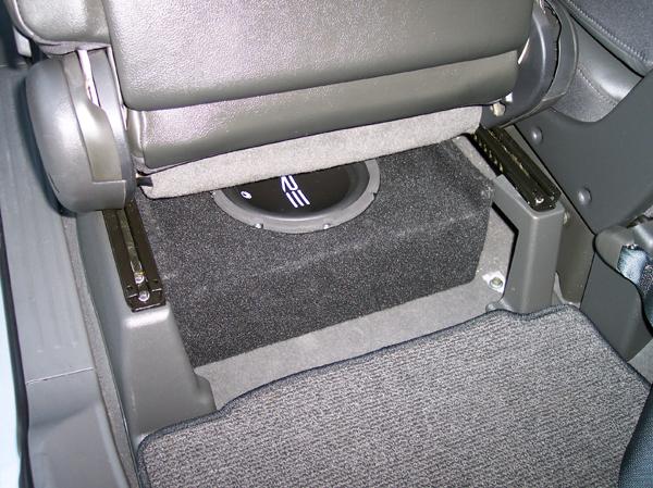 Under Seat Subwoofer Box Enclosure - Video Wood Foundation