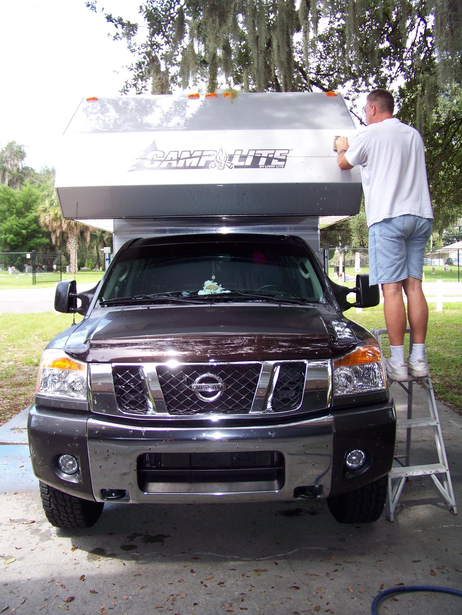 truck camper nissan titan forum. Black Bedroom Furniture Sets. Home Design Ideas