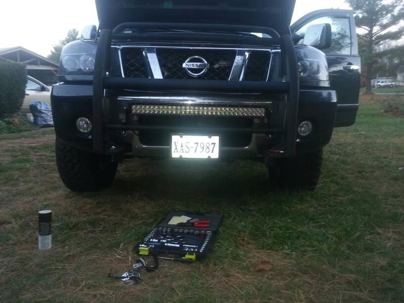Led Light Bar Mounting Options Pics Nissan Titan Forum