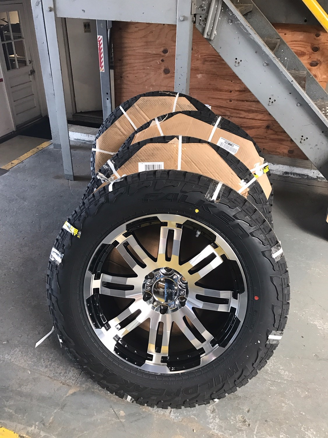 "NEW 20"" Vision Warrior's & Falken AT3/W Tires - Nissan ..."