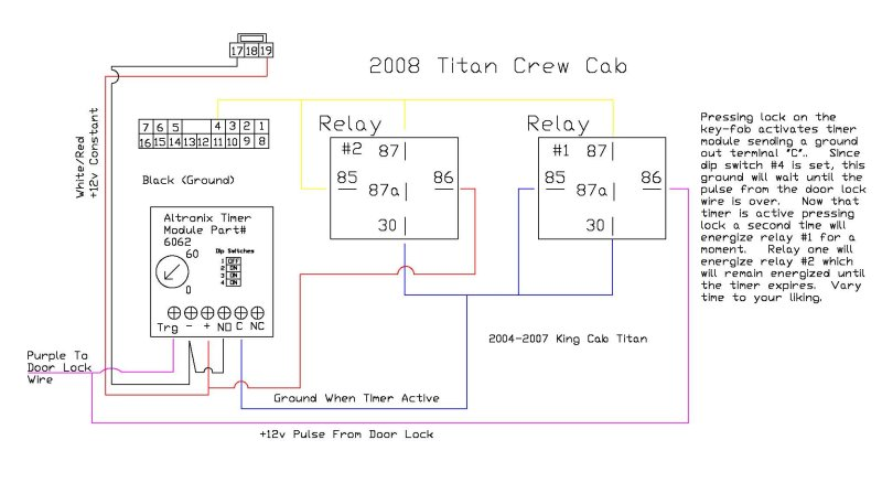 altronix relays wiring diagrams how to window roll up mod nissan titan forum  window roll up mod nissan titan