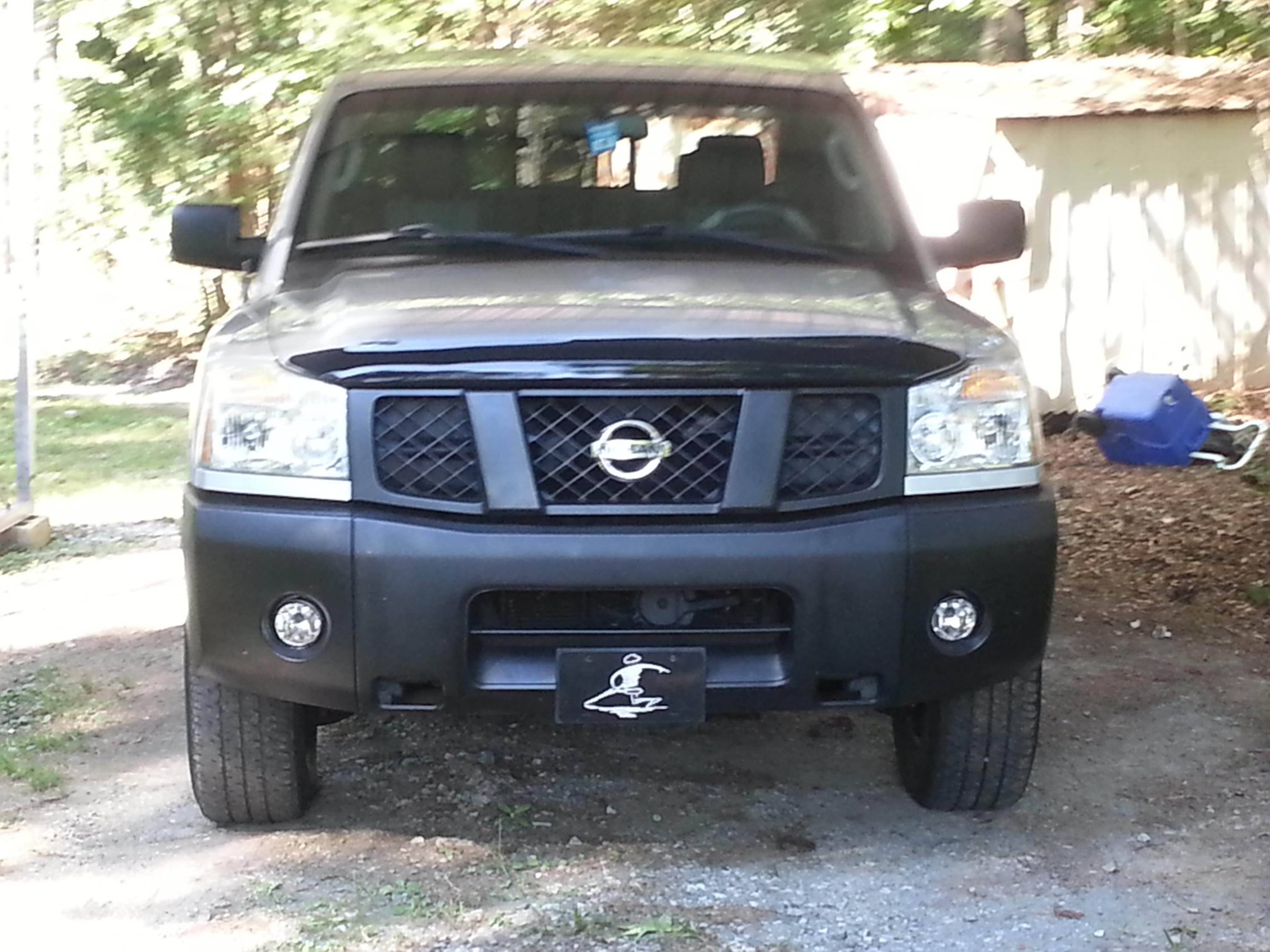 White Titan With Black Front Bumper Nissan Titan Forum