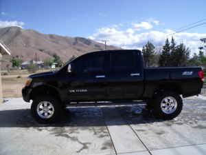 lifted 2005 nissan titan se 4x4 crew cab black - Nissan Titan ...