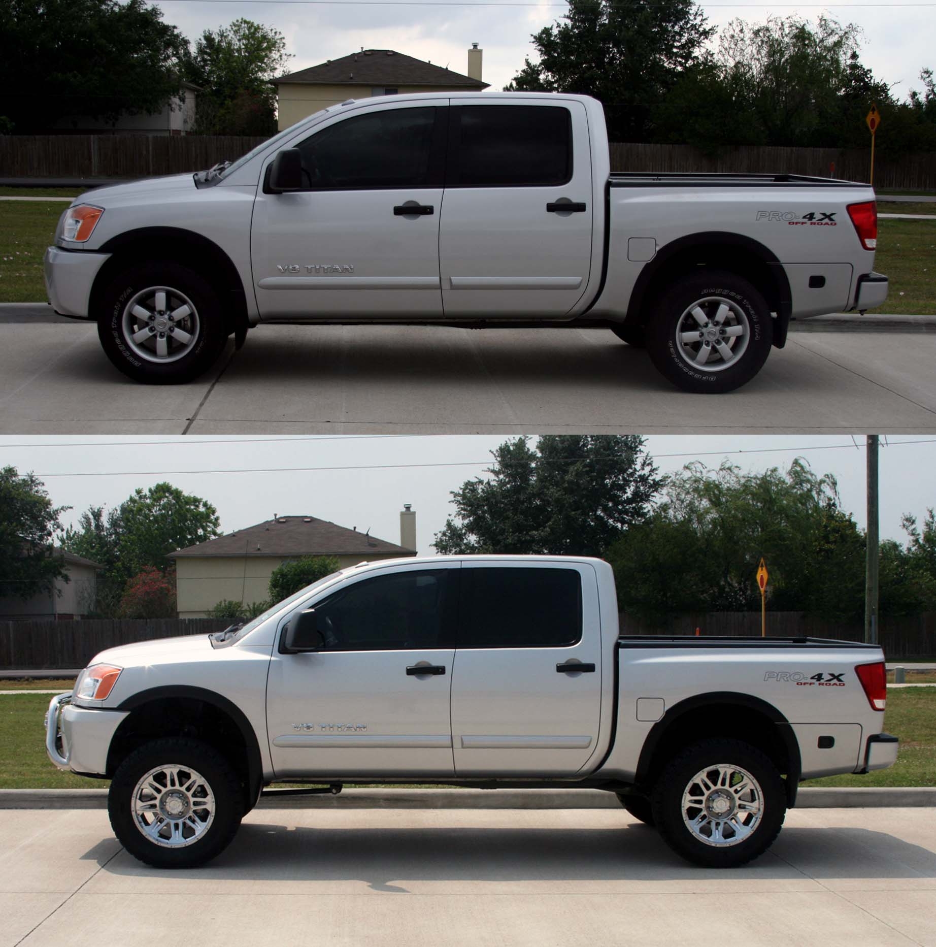 Pics Of Before And After Lift Nissan Titan Forum