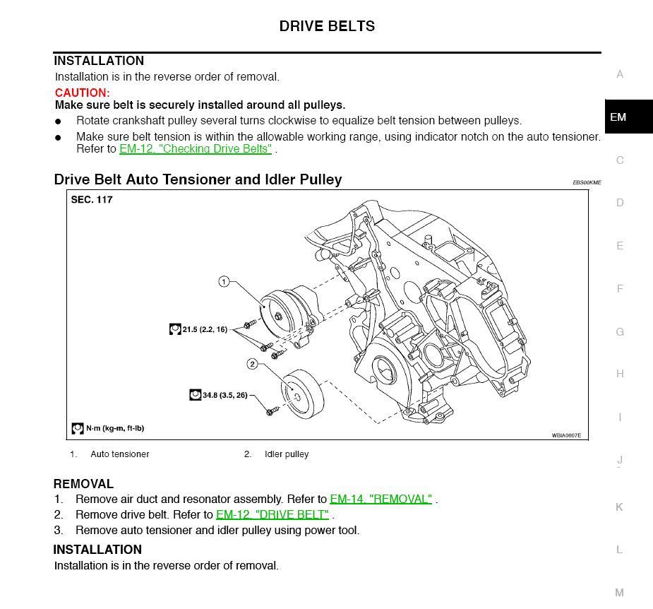 2008 Nissan Titan Belt Diagram Great Installation Of Wiring Serpentine How To Change Drive Forum Rh Titantalk Com Tailgate