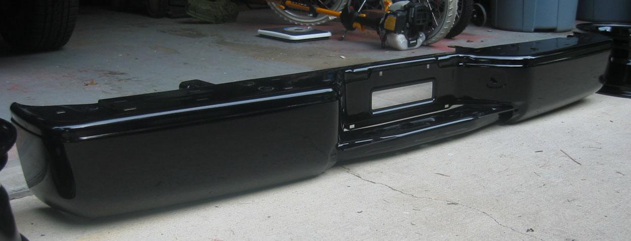 Black chrome powder coat bumpers