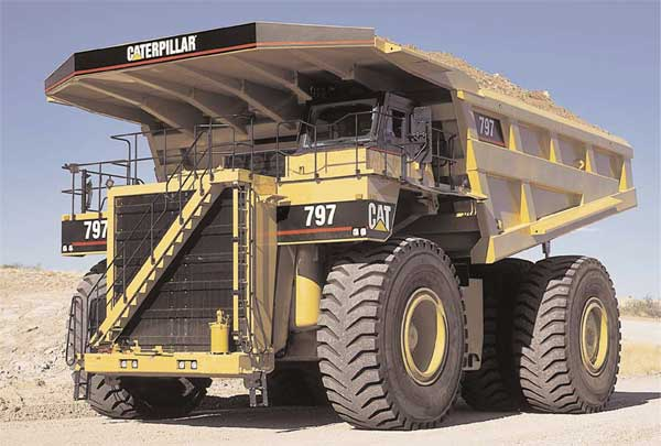 797 caterpillar truck. New Nissan Titan mining truck