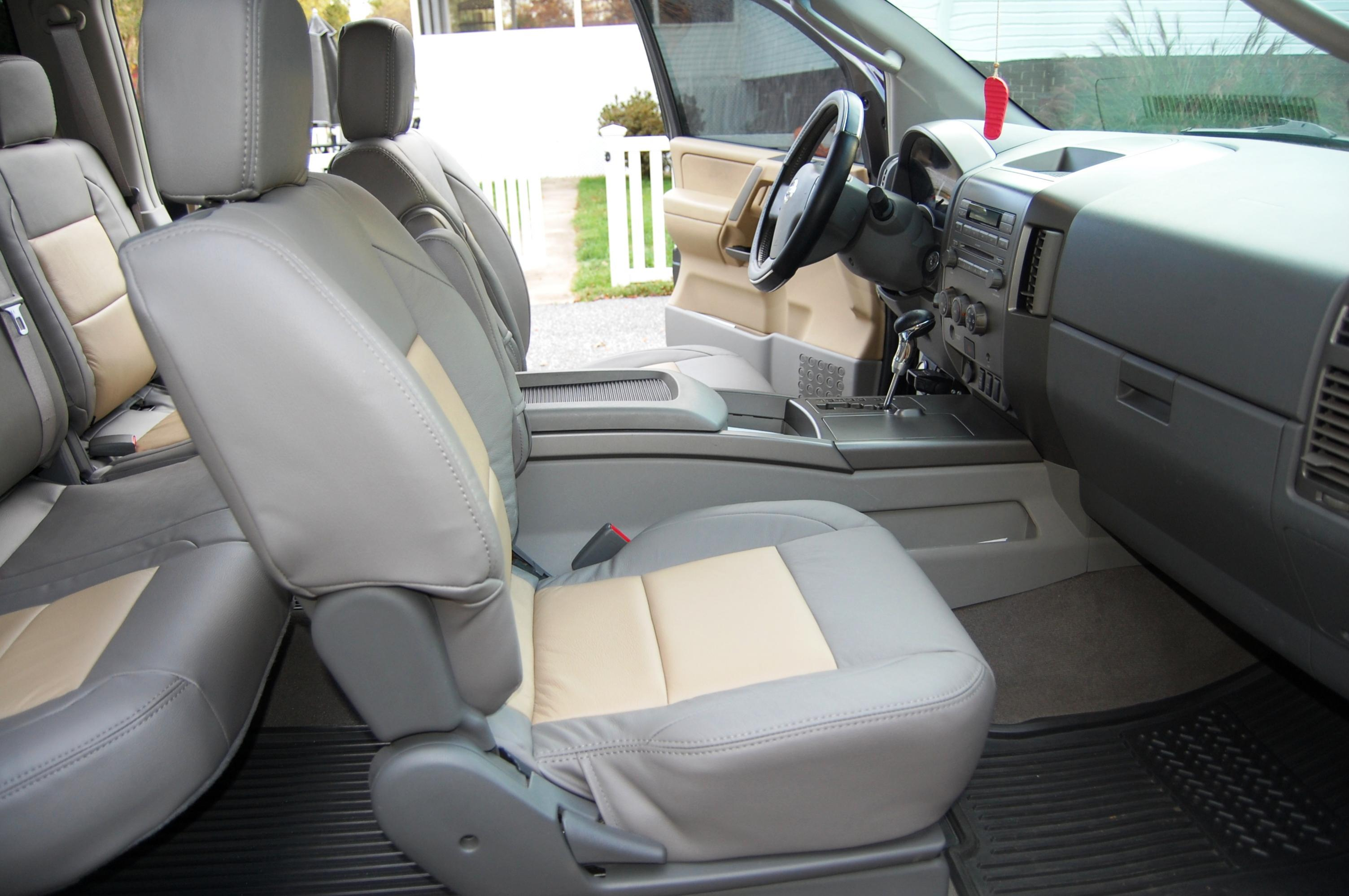 2004 Nissan Titan Leather Seat Covers Velcromag
