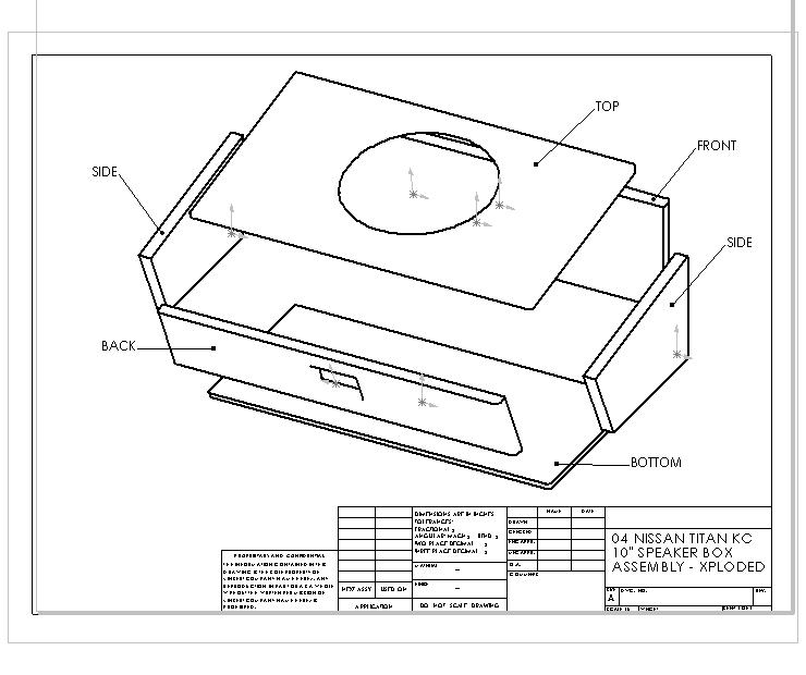 how to  custom kc 10 u0026quot  subwoofer box    u0026 39 04 nissan titan king cab