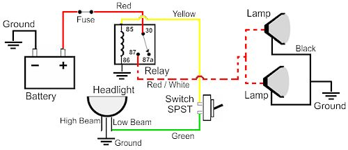 D Wiring Diagram Illuminated Rocker Switch Driving Lights on 2001 Dodge Ram Wiring Schematics
