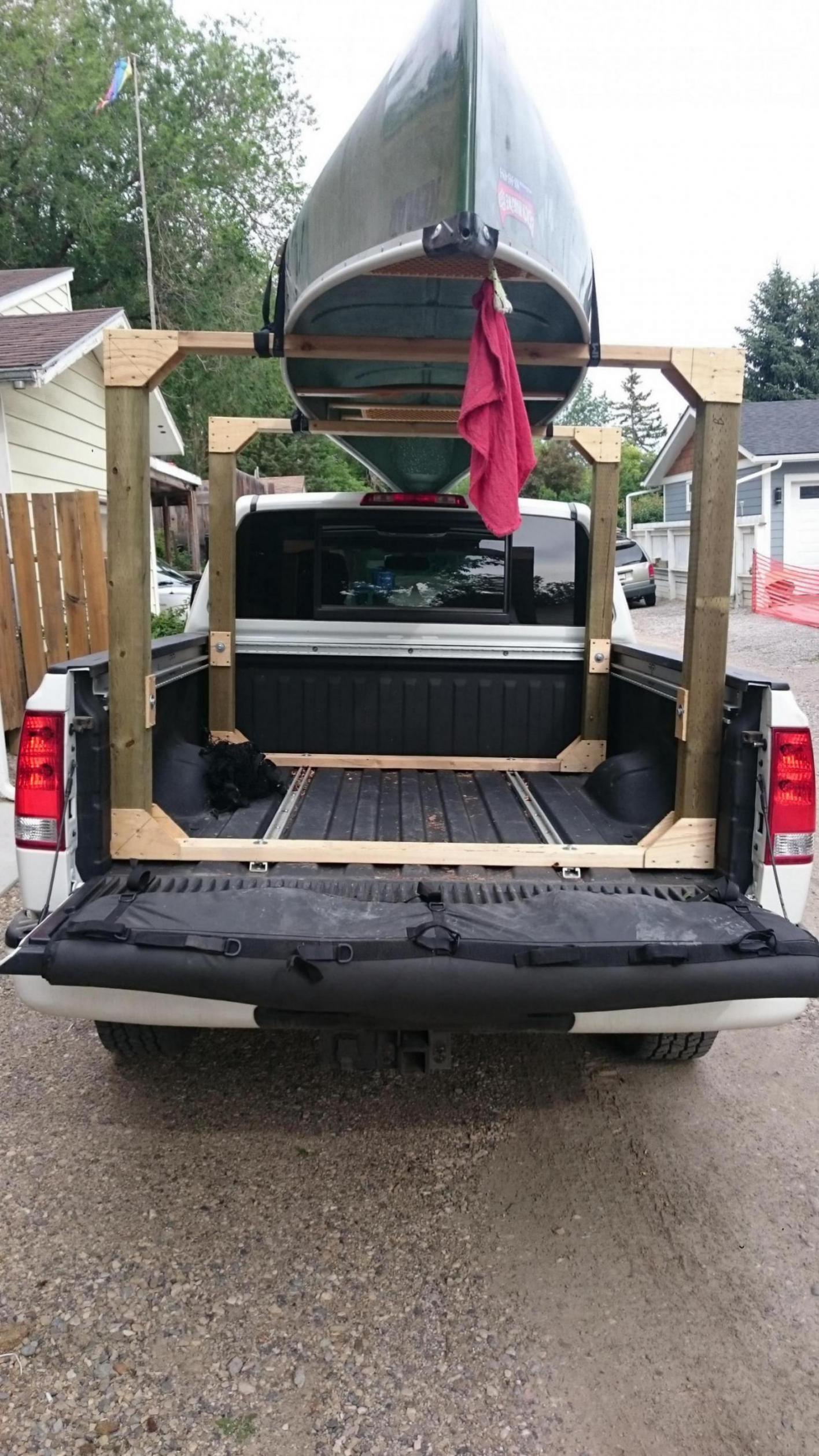 Diy Kayak Rack >> DIY canoe rack - Nissan Titan Forum