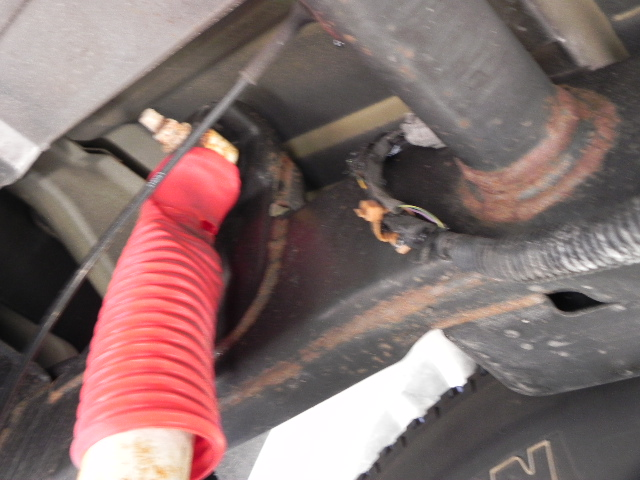 Rear Harness Melted above tailpipe. | Nissan an Forum on