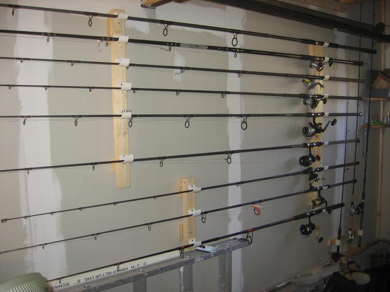 Garage Door Fishing Rod Holder Ideas