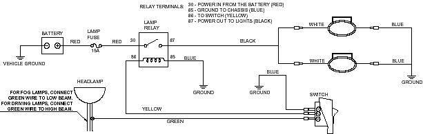 how to wire 55w fog lights use stock switch? nissan titan forum Wiring Up Fog Lights image fog install jpg