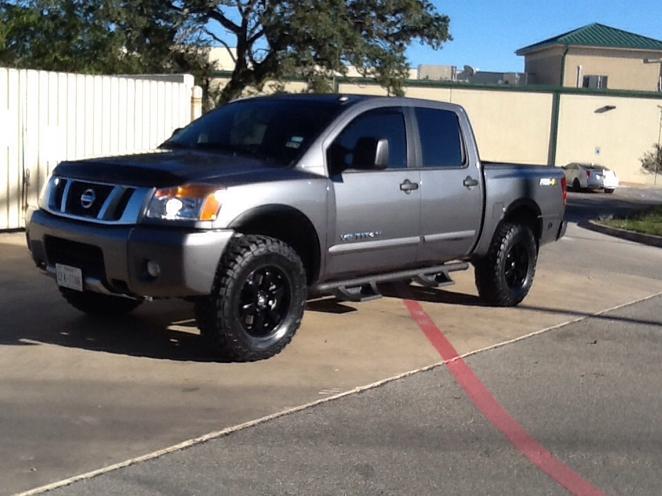 Black pro4x wheels and new Toyo M/Ts 295/70-18. WITH PICS ...