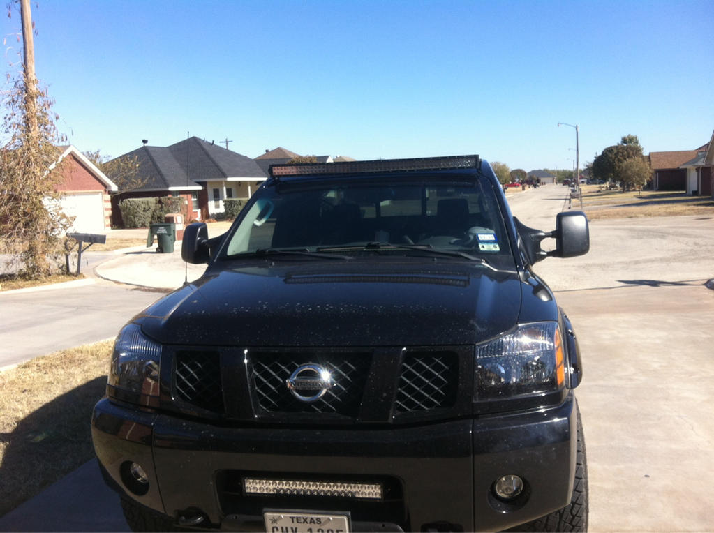 Nissan titan forum view single post 52 light bar and roof light bar and roof brackets imageuploadedbyag free1416510722167881g mozeypictures Image collections