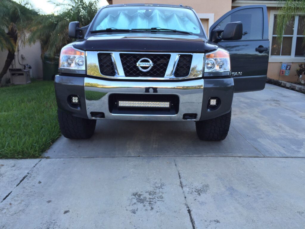 Light barpods installed nissan titan forum attachment 393602 mozeypictures Image collections