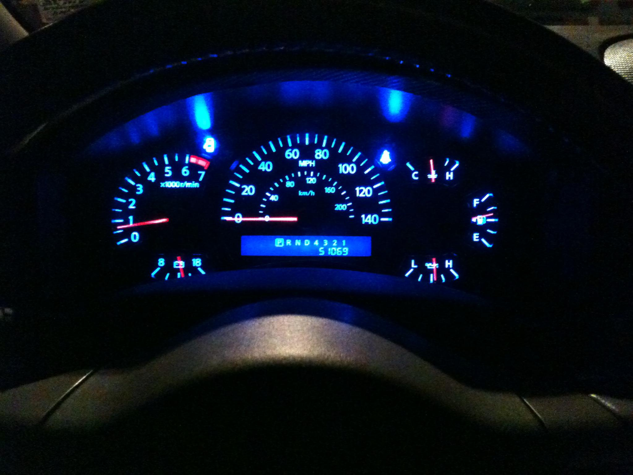 Blue Led Gauges Nissan Titan Forum