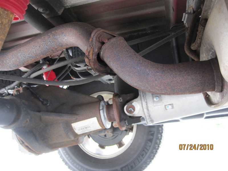 broken tailpipe leads to big problems - what now