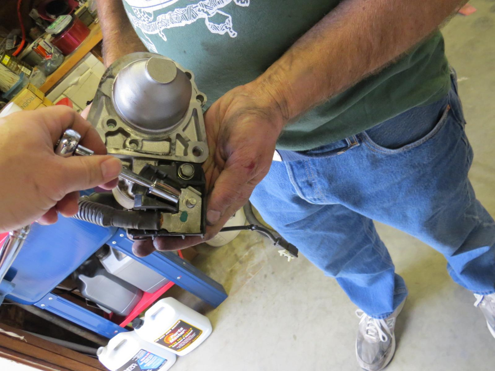 How to replace the starter Nissan Titan-img_1037.jpg