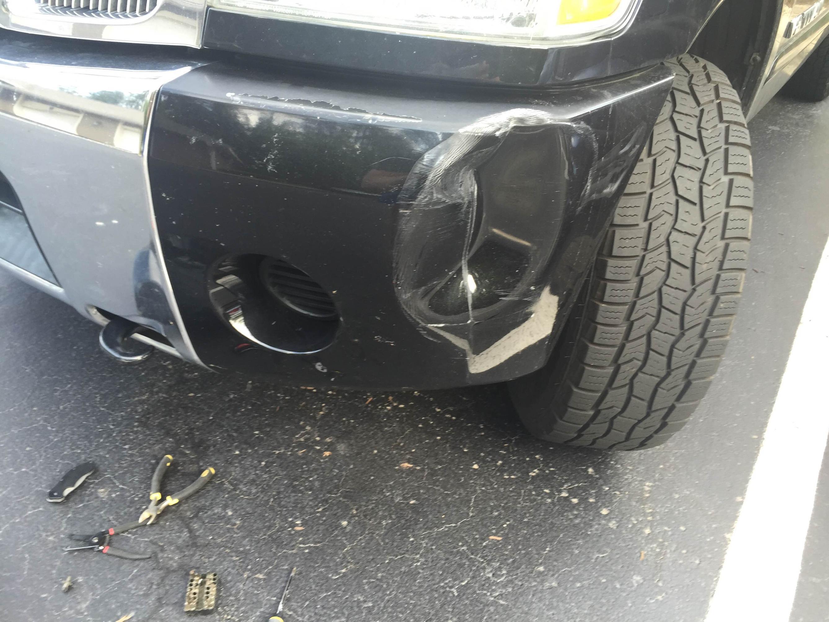 Front bumper end cap replacement   Nissan Titan Forum