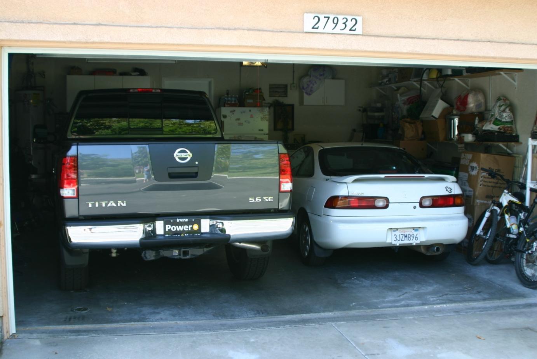titan in a 2 car garage nissan titan forum