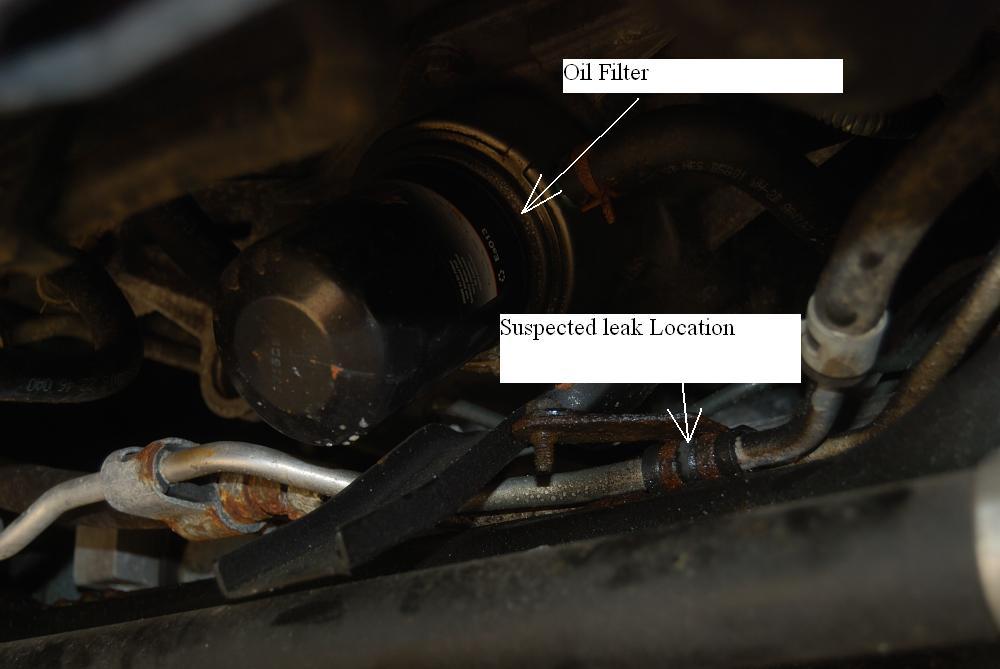 D Power Steering Pipe Hose Leak Leak Location