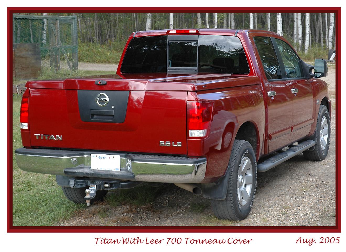Titan Leer 700 Tonneau Cover Painted Cover Nissan Titan Forum