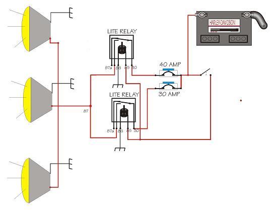 how to wire 3-100w off-road lights on same switch?? | nissan titan forum  nissan titan forum