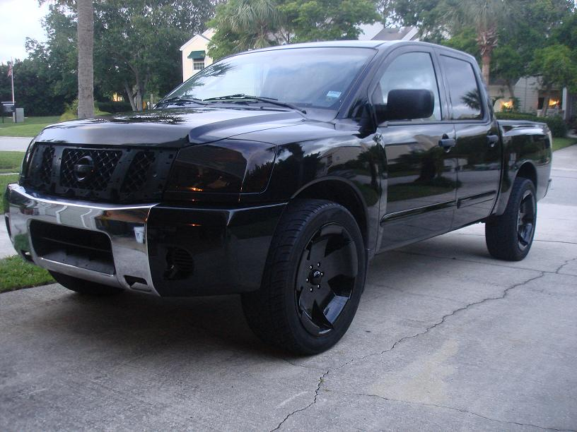 Better Light Output Blacked Out Lights?? My Truck 4