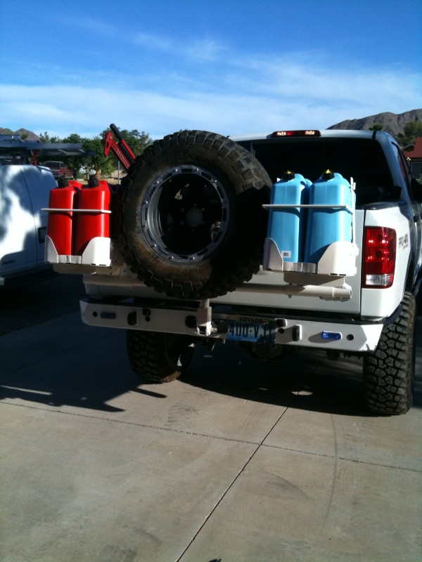Titan Spare Tire Carrier And 4 Jerry Can Holder Nissan