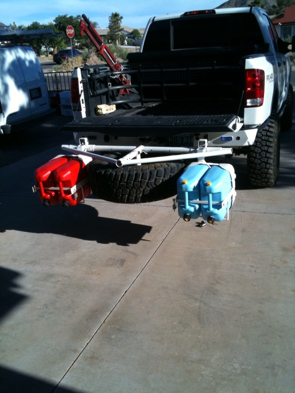Titan Spare Tire Carrier and 4 Jerry can holder - Nissan ...