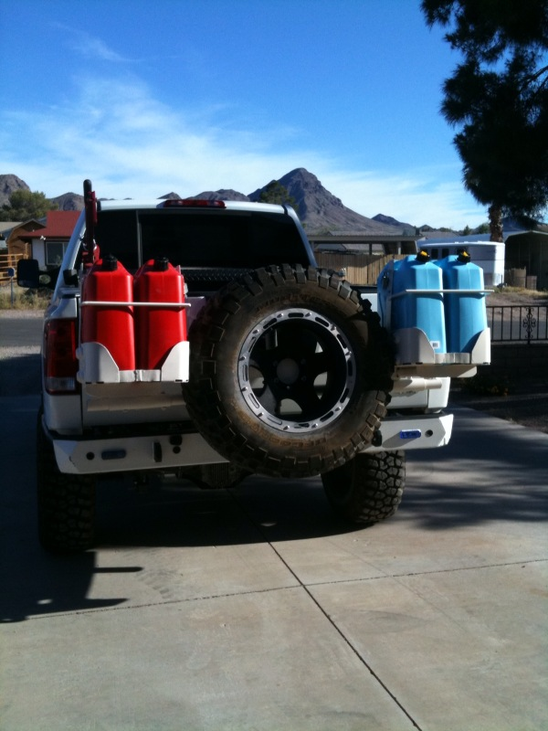 Custom Nissan Titan >> Titan Spare Tire Carrier and 4 Jerry can holder - Nissan Titan Forum