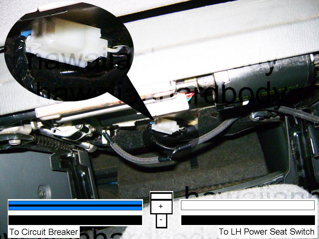 Wiring diagram for power seat   Nissan an Forum on