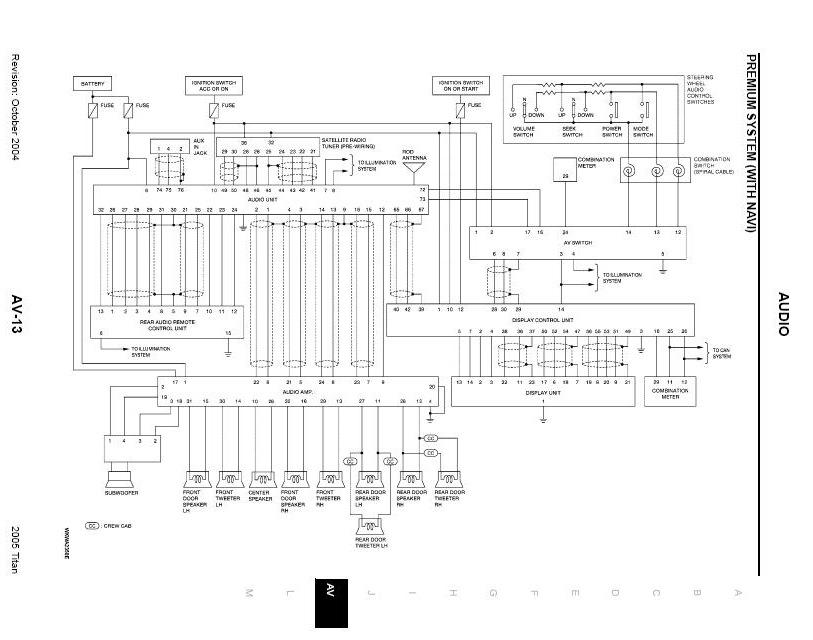 rockford fosgate system wiring schematic fyi   nissan titan forum  titan talk