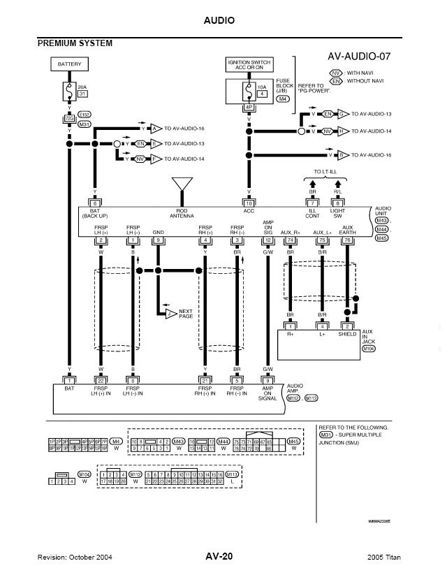 Wiring Diagram For 2008 Nissan Titan : Nissan titan stereo wiring diagram