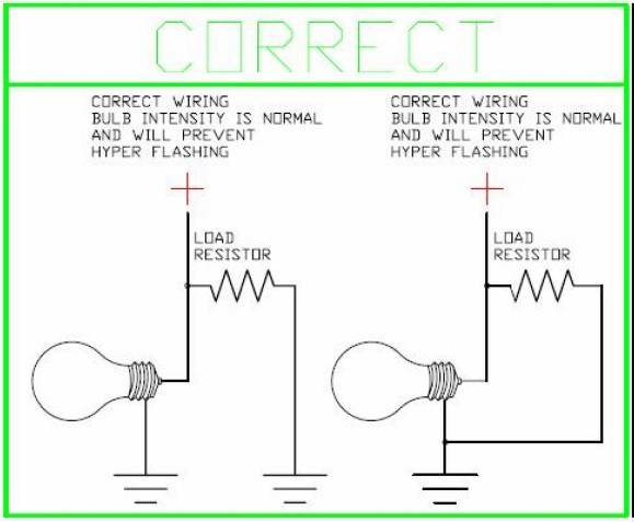 Led Load Resistor Wiring Diagram - Wiring Diagram