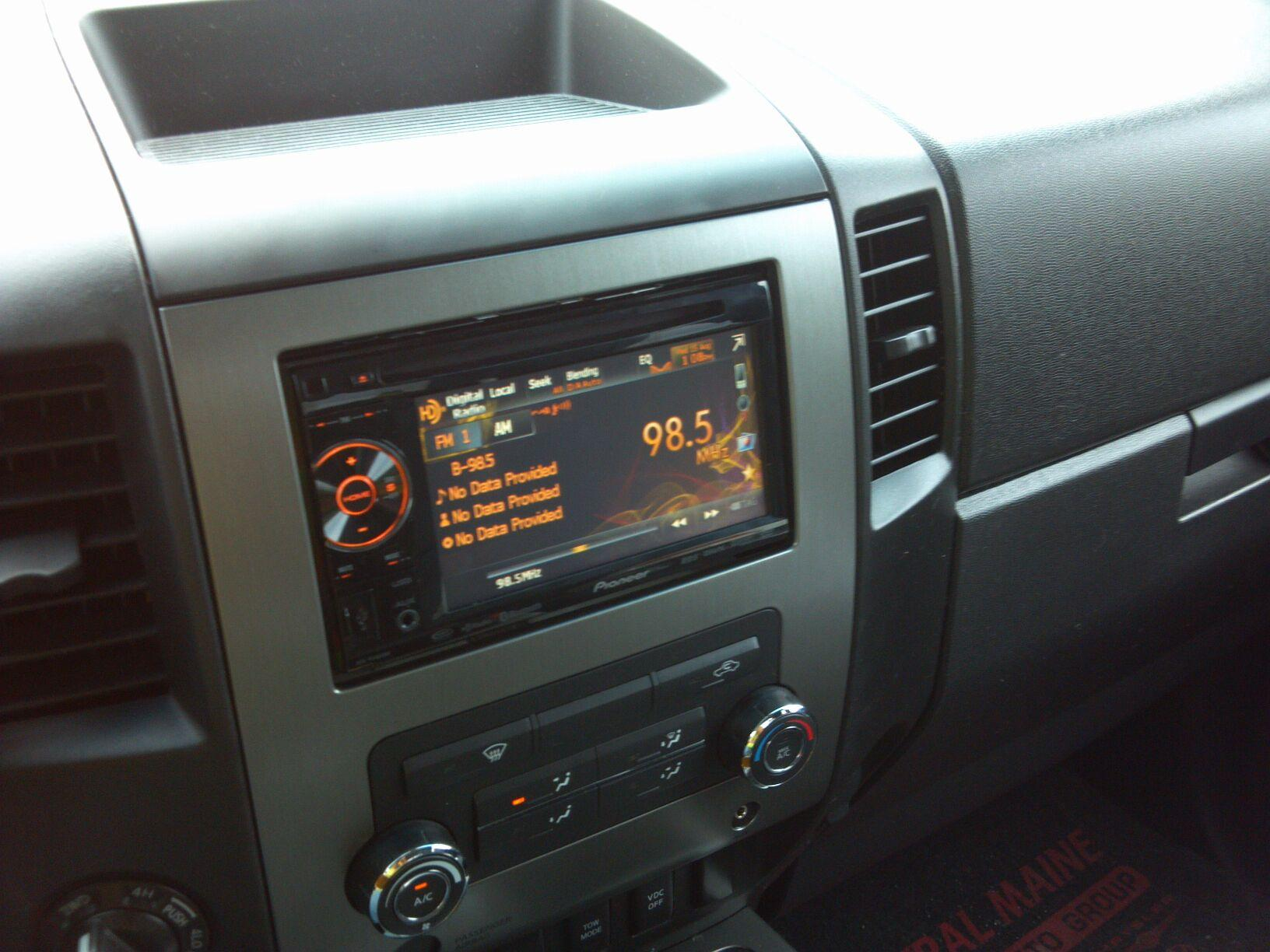 pioneer p1400dvd wiring harness aftermarket double din install fyis nissan titan forum  aftermarket double din install fyis