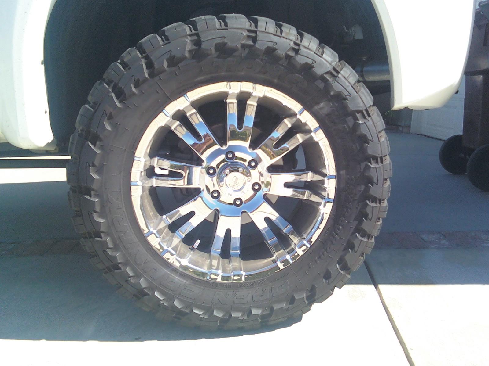 35x12 5x20 Toyo M T s on chrome Pro p 6001 wheels Nissan Titan Forum