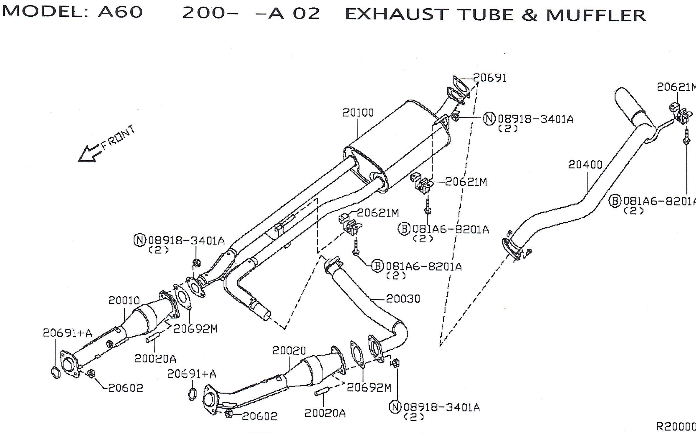 for older titans upgraded oem exhaust diagram