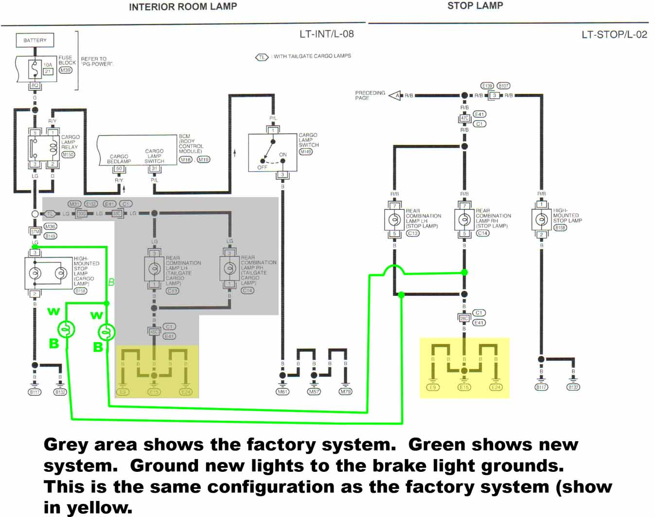 2008 Nissan Titan Brake Wiring Diagram Start Building A 2005 Fuse Box 20 Tailgate Cargo Light Mod Forum Rh Titantalk Com Stereo