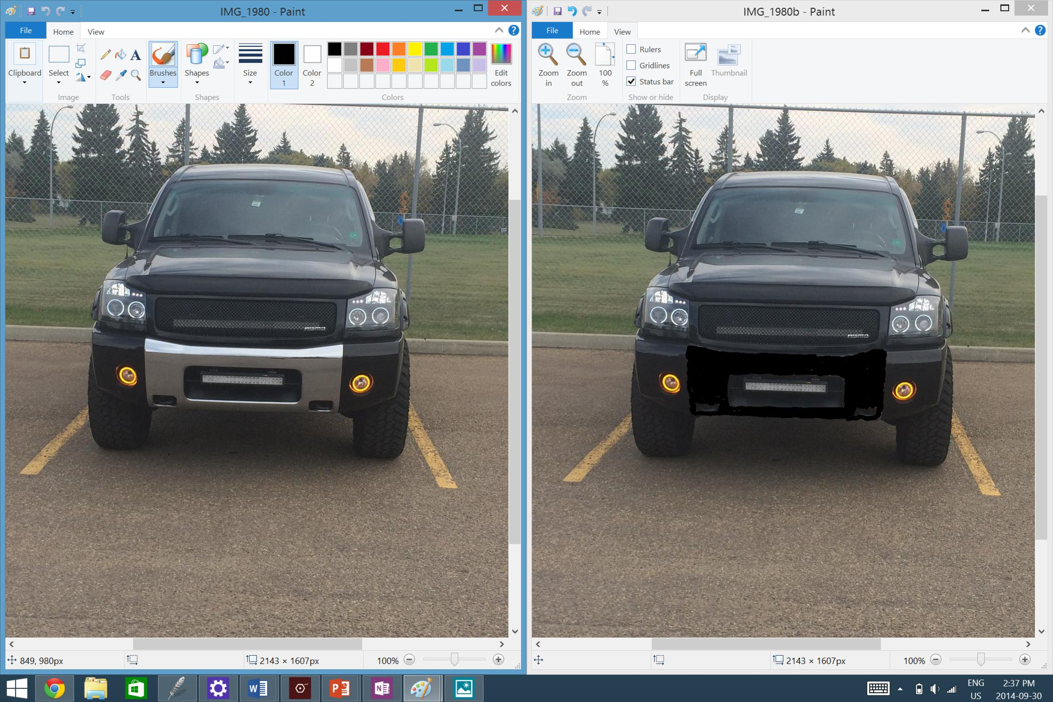 So I Am Plasti Dipping My Chrome Front Bumper Nissan