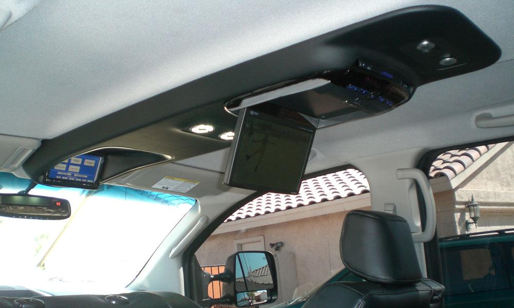 New Overhead Console For 2 Monitors Nissan Titan Forum
