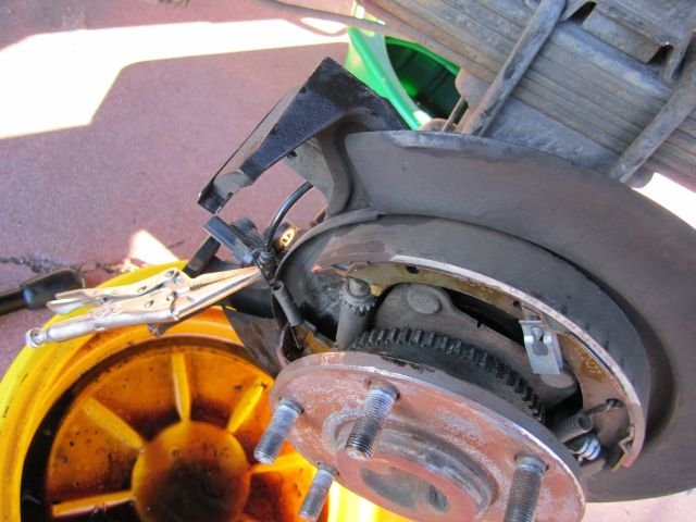 Here S A Pic Of The Parking Brake Also Note Use Needle Nosed Vice Grips