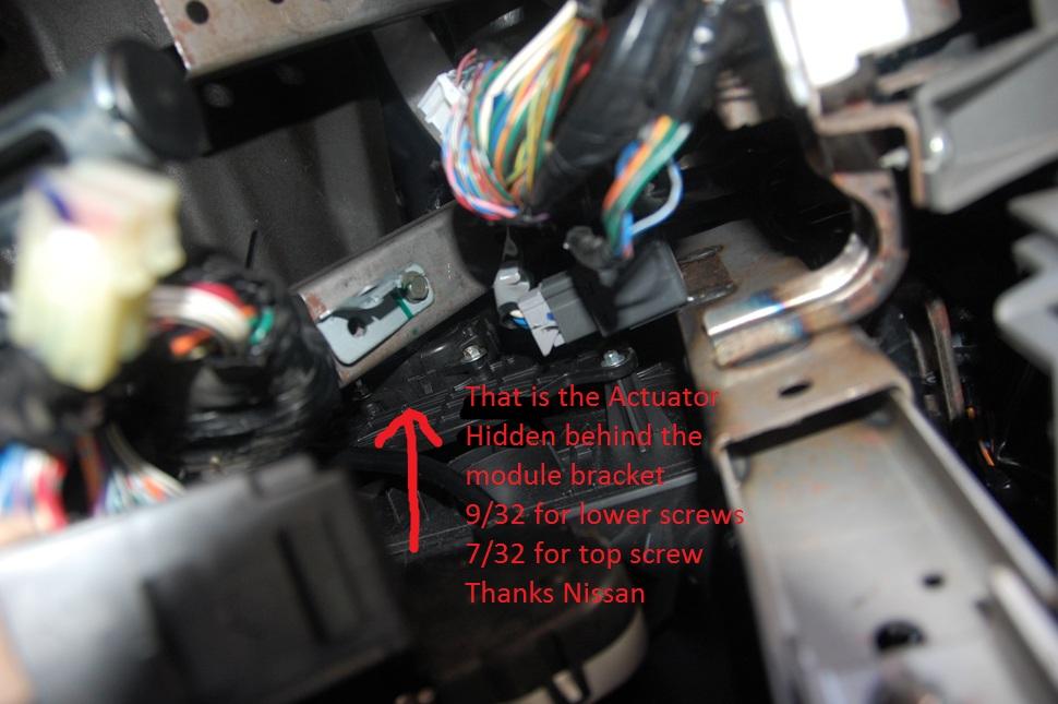 Replacing Vent Control Actuator Nissan Titan Forum