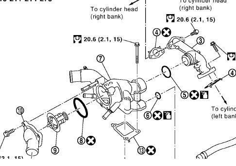 2008 Nissan Armada Thermostat Diagram