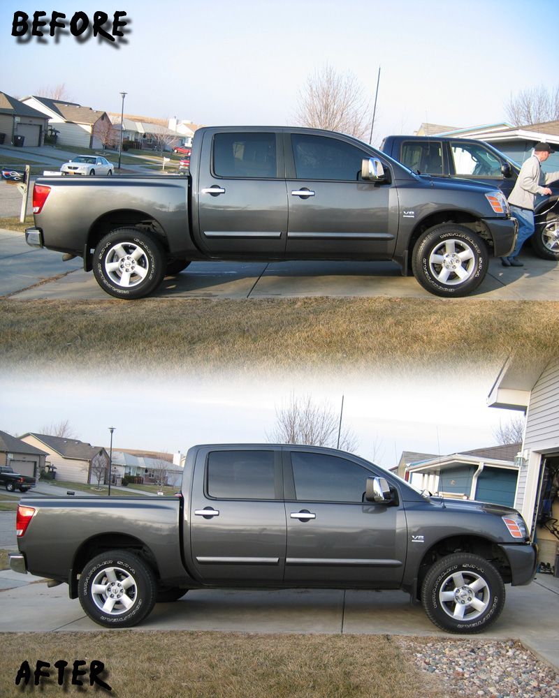 A New Leveling Kit That Works Page 7 Nissan Titan Forum