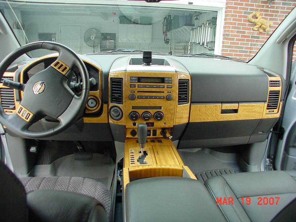 New blonde wood trim nissan titan forum new blonde wood trim titan gps 012g vanachro Choice Image