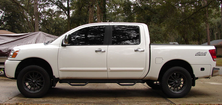 8 of actual lift from a procomp 6 kit why nissan titan forum. Black Bedroom Furniture Sets. Home Design Ideas