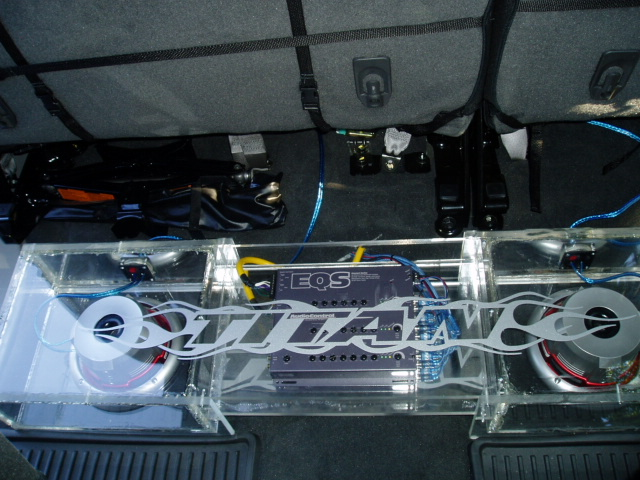 ... Custom All Plexi-Glass Speakerbox with Fosgate & Focal system  installed-tithanh- ...